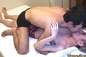 Asian twink screws ass