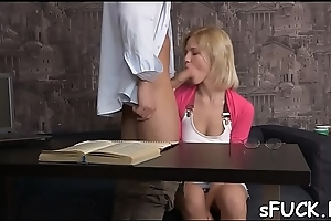 Dirty minded chick is lost in thought and fucking quite often