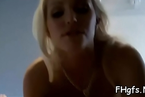 Dissipated girl with soaking wet pussy is in the mood be incumbent on a fuck