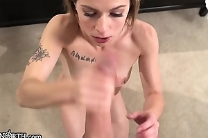 PeterNorth Small Teen Feels Dick Harder &amp_ Harder In Her Throat
