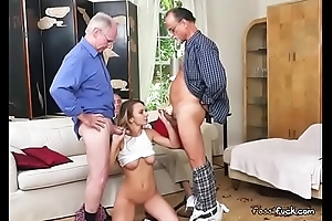 Teen Vixen Molly Mae Blows Well Hung Old Men