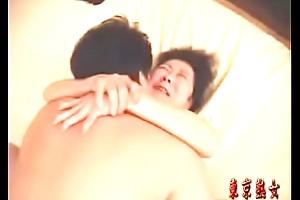 Japanese granny enjoying carnal knowledge