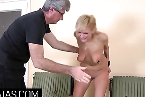 Little tow-haired slut needs a cruel Master