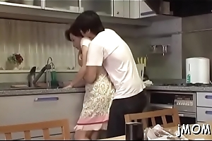 Perverted japanese older licks her darling there his body