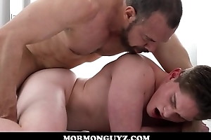 Young Jock Mormon Boy Elder statesman Edwards Seduced And Fucked By Muscle Bear Mormon President Ballard