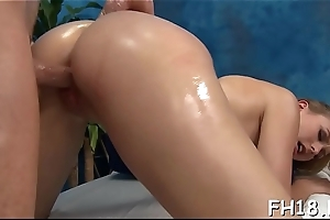 Hot jolly babe gets fucked changeless from behind