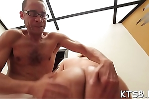 Experienced guy splits sexy tranny'_s butt added to pokes their way hard