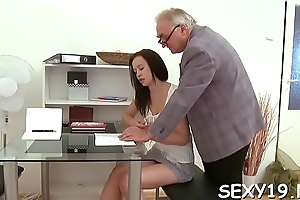 Chat up is getting hardcore doggystyle drilling from teacher