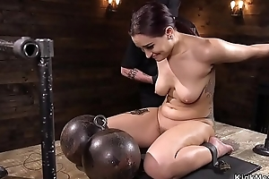 Shackled on make an issue of floor aggravation caned