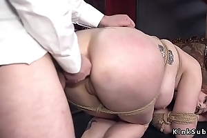 Huge special redhead pussy added to ass pounded