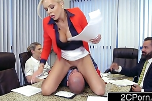 Douchebag employee eating office boss (nina ell...