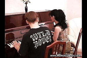 Mature slutty piano school fucking her student