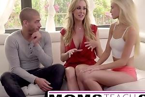 Moms Teach Sex - Chunky mamma Step mom choker Step daughter