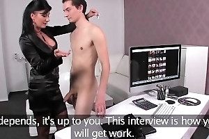 FemaleAgent MILF is gormless guys last fortune upon lose his virginity